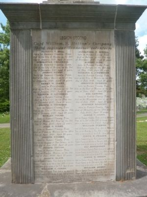 Sumner County Tennessee Mexican-American War Monument Marker image. Click for full size.