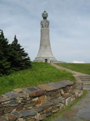 The Mount Greylock Summit Marker image. Click for full size.