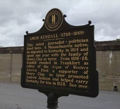 Amos Kendall (1789 - 1869) Marker (Side A) image. Click for full size.