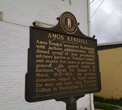 Amos Kendall (1789 - 1869) Marker (Side B) image. Click for full size.