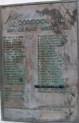 Woodstock Veterans Memorial Marker image. Click for full size.