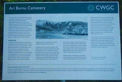 Ari Burnu Cemetery Marker (Turkish) image. Click for full size.