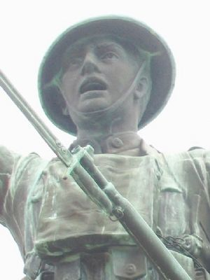World War I Memorial Statue Detail image. Click for full size.
