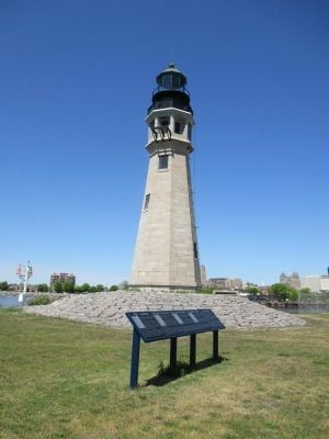 Buffalo Harbor Marker & 1833 Buffalo Lighthouse image. Click for full size.