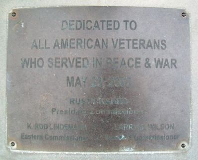 All American Veterans Memorial Marker image. Click for full size.