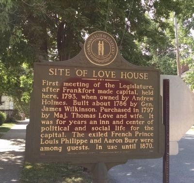 Site Of Love House Marker image. Click for full size.