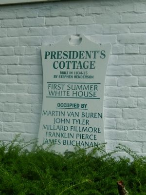 President's Cottage Marker image. Click for full size.