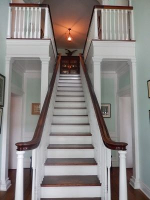 President's Cottage Interior Stairs image. Click for full size.