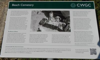 Beach Cemetery Marker (English) image. Click for full size.