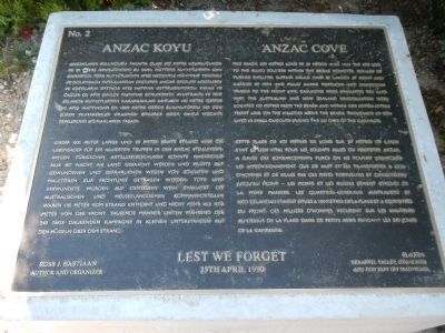 Anzac Cove Marker image. Click for full size.