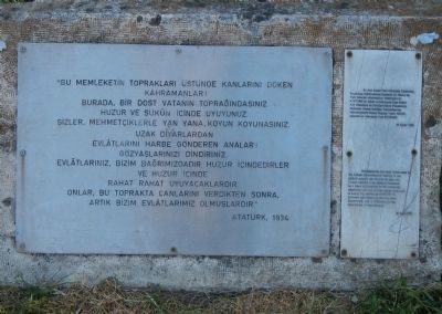 Atatürk's Tribute Marker image. Click for full size.