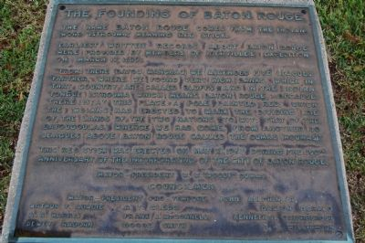 Founding Of Baton Rouge Marker image. Click for full size.