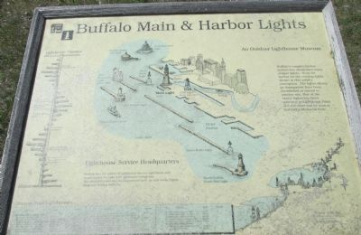 Buffalo Main & Harbor Lights Marker image. Click for full size.