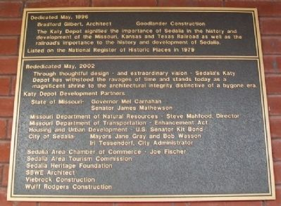 Katy Depot Marker image. Click for full size.