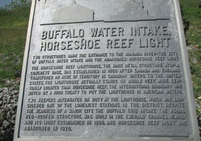 Buffalo Water Intake, Horseshoe Reef Light Marker image. Click for full size.