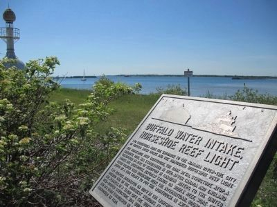 Buffalo Water Intake, Horseshoe Reef Light & Marker image. Click for full size.