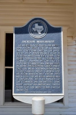 Jackson Warehouse Marker image. Click for full size.