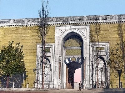<i>Imperial gate, Topkapi Palace, Constantinople, Turkey</i> image. Click for full size.