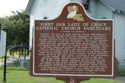 First Our Lady of Grace Catholic Church Sanctuary Marker image. Click for full size.