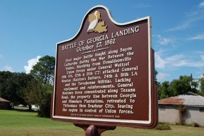 Battle Of Georgia Landing Marker image. Click for full size.