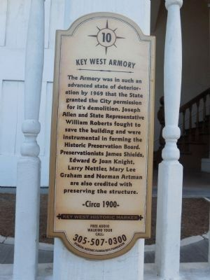 Key West Armory sign image. Click for full size.