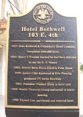 Hotel Bothwell Marker image. Click for full size.