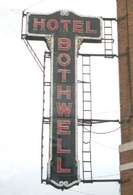 Hotel Bothwell Sign image. Click for full size.