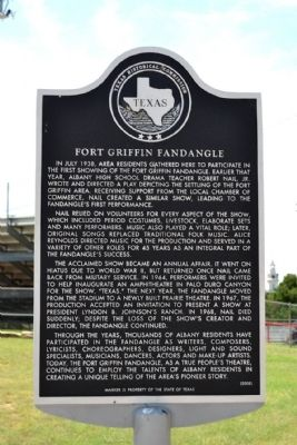Fort Griffin Fandangle Marker image. Click for full size.