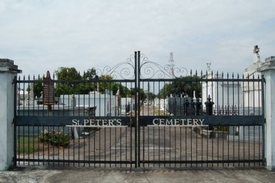St. Peter's Cemetery Gate image. Click for full size.