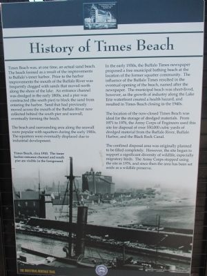 History of Times Beach Marker image. Click for full size.