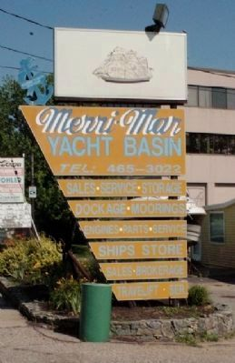 Yacht Basin Sign image. Click for full size.