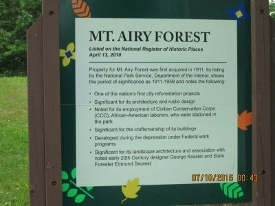 Mt. Airy Forest Marker image. Click for full size.