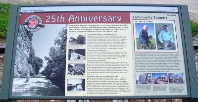 Katy Trail State Park 25th Anniversary Marker image. Click for full size.