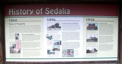 History of Sedalia Marker image. Click for full size.