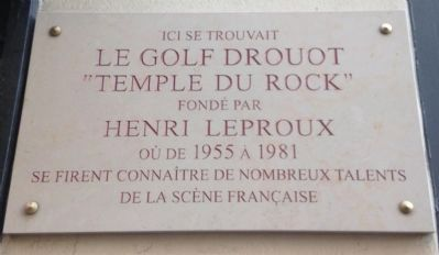 Le Golf Drouot Marker image. Click for full size.