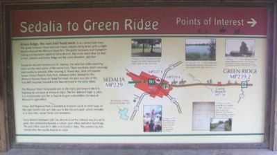 Sedalia to Green Ridge Marker image. Click for full size.