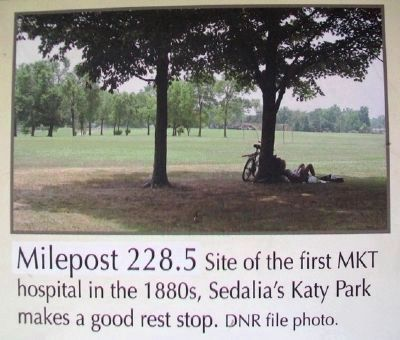Milepost 228.5 on Sedalia to Green Ridge Marker image. Click for full size.