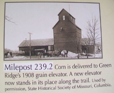 Milepost 239.2 on Sedalia to Green Ridge Marker image. Click for full size.