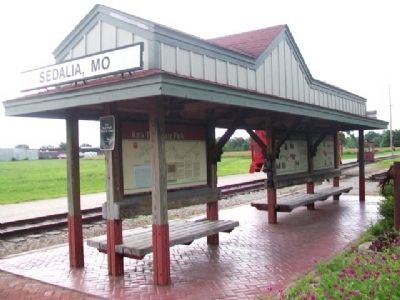 Katy Trail Kiosk at the Katy Depot in Sedalia image. Click for full size.