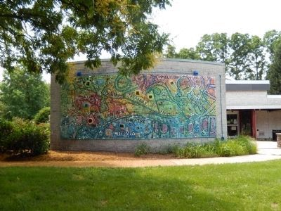 Mural on the library building image. Click for full size.