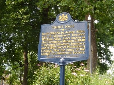 Trout Hall Marker image. Click for full size.