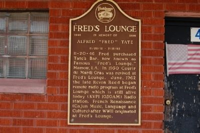 Fred's Lounge Marker image. Click for full size.