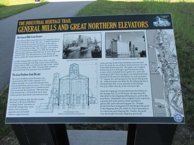 General Mills and Great Northern Elevators Marker image. Click for full size.