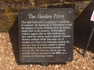 The Garden Privy Marker image. Click for full size.