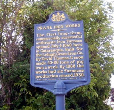Crane Iron Works Marker image. Click for full size.