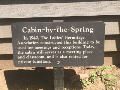 Cabin-by-the-Spring Marker image. Click for full size.