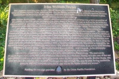 John William Boone Marker image. Click for full size.