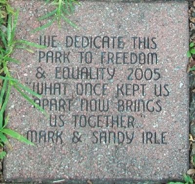 Blind Boone Park Dedicatory Paver image. Click for full size.