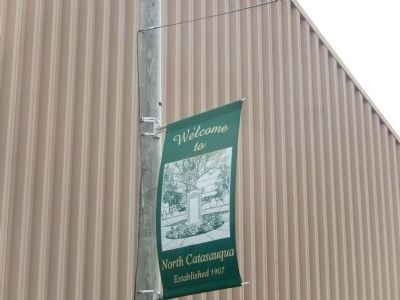 Banner in front of the Phoenix Forging Co. building image. Click for full size.