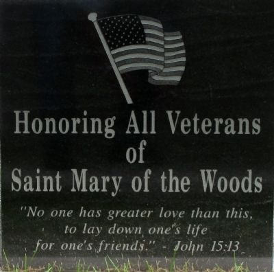St. Mary of the Woods Veterans Memorial Marker image. Click for full size.